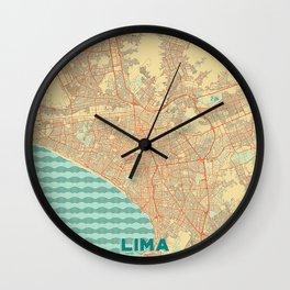 Lima Map Retro Wall Clock