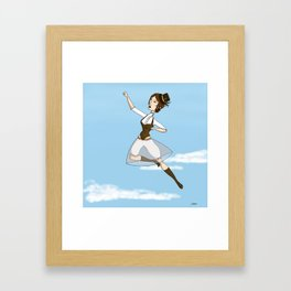 19th century super heroine Framed Art Print