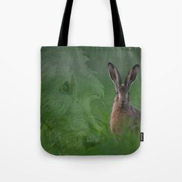 Hare and Hound Tote Bag