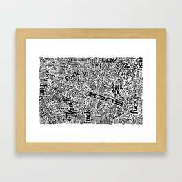 LOOK AT ALL THE FUCKS YOU DO NOT GIVE Framed Art Print
