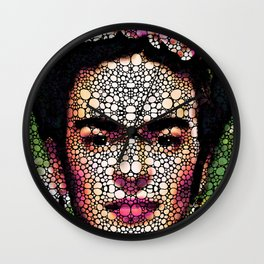 Frida Kahlo Art - Define Beauty Wall Clock