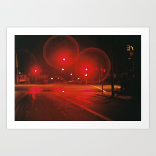 Red Lights Art Print