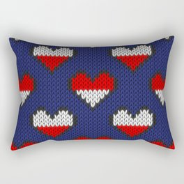Heart half full half empty Rectangular Pillow