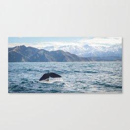 Diving Whale Canvas Print