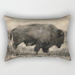 Plains Bison   -  American Buffalo Rectangular Pillow