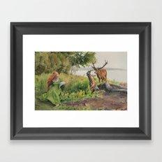 Beckon Framed Art Print