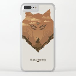 The Dread Wolf Rises Clear iPhone Case