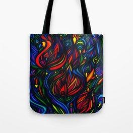 Flowers in Flame Tote Bag