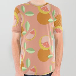 Grapefruit All Over Graphic Tee