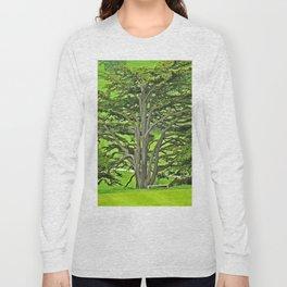 Old English Tree 1 Long Sleeve T-shirt