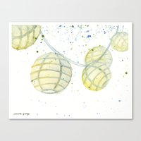 lanterns Canvas Prints featuring Lanterns by Priscilla George