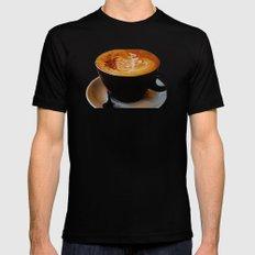 Loving My Latte Mens Fitted Tee Black MEDIUM