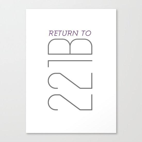 Return to 221B Canvas Print