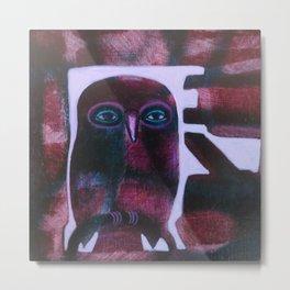 Owl Drive Metal Print