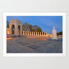 Washington DC World War II Memorial Art Print