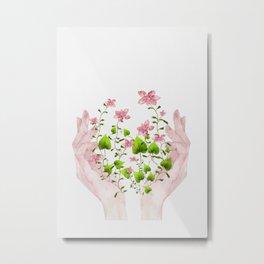 Blooming Hands Metal Print