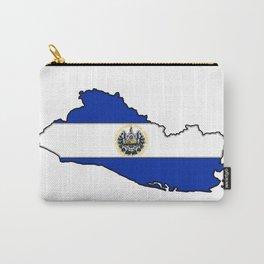 El Salvador Map with Salvadoran Flag Carry-All Pouch