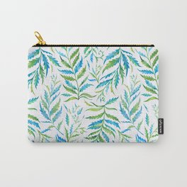 Leaves Green And Blue Carry-All Pouch