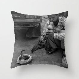Snake Charmer Throw Pillow