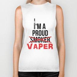 I'm A Proud Vaper (Ex-Smoker) Biker Tank