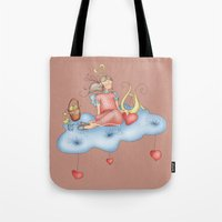 angel Tote Bags featuring Angel by Catru