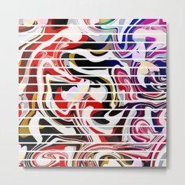 Fluidity series - VIII Metal Print