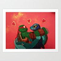 Raphael and Monalisa Art Print