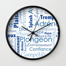 Plongeon Wall Clock