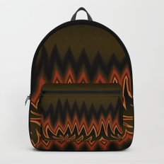 Fractal Tribal Art in Autumn Backpack