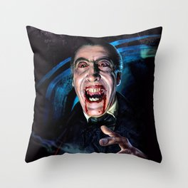 Christopher Lee Dracula Horror Movie Monsters Throw Pillow