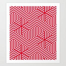 Cadmium red - red - Minimal Vector Seamless Pattern Art Print