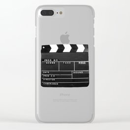 Film Movie Video production Clapper board Clear iPhone Case