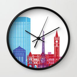 Indianapolis skyline pop Wall Clock