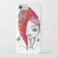 redhead iPhone & iPod Cases featuring Redhead by Hannah Grunden