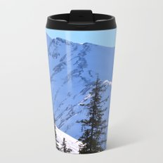 Back-Country Skiing  - V Metal Travel Mug