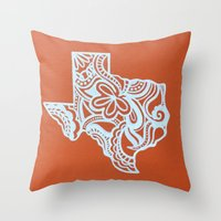 texas Throw Pillows featuring Texas by bkraftydesigns