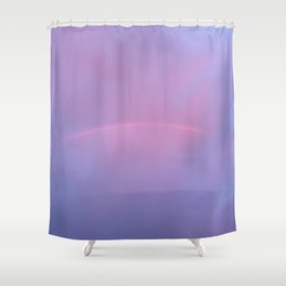 Rainbows and Purples Shower Curtain