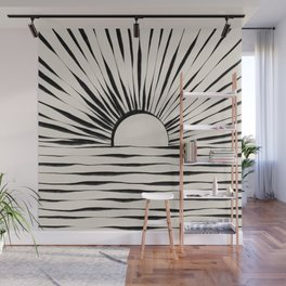 Minimal Sunrise / Sunset Wall Mural