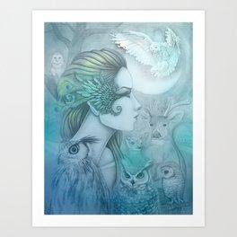 Spirit of Artemis 2 Goddess Art Art Print