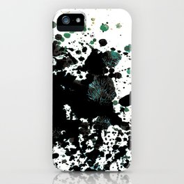Haiku- Black Paint Spatter  iPhone Case