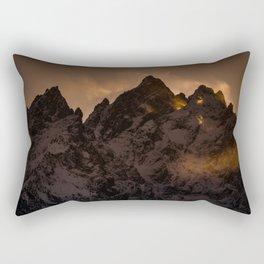 Tetons At Sunset Rectangular Pillow