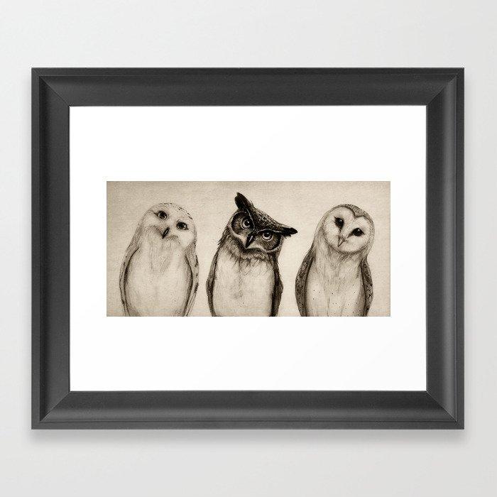 The Owl's 3 Gerahmter Kunstdruck