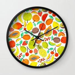Summer Fruits by Veronique de Jong Wall Clock