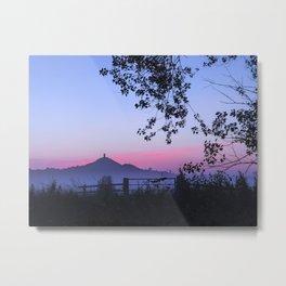 Sunrise over Glastonbury Metal Print