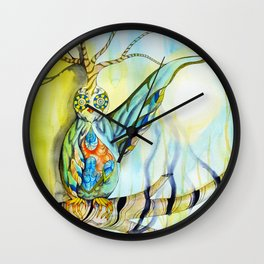 Throwing Shadows Wall Clock