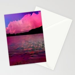 A Redder Lake and Sky Stationery Cards