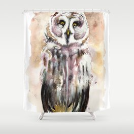 Gary The Great Gray Owl Shower Curtain