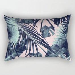 Tropical Jungle Leaves Dream #2 #tropical #decor #art #society6 Rectangular Pillow