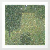 Gustav Klimt - Landscape Garden (Meadow in Flower) 1906 Art Print
