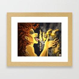 Summer burning desire Framed Art Print